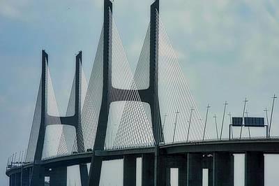 Photograph - Vasco Da Gama Bridge In Lisbon by Kirsten Giving