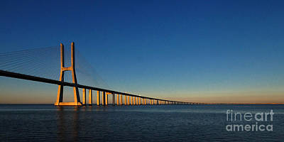 Photograph - Vasco Da Gama Bridge Lisbon 1 by Rudi Prott
