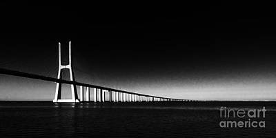 Photograph - Vasco Da Gama Bridge Lisbon 2 by Rudi Prott