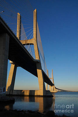 Photograph - Vasco Da Gama Bridge Lisbon 3 by Rudi Prott
