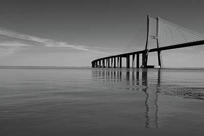 Photograph - Vasco Da Gama Bridge by Marco Oliveira