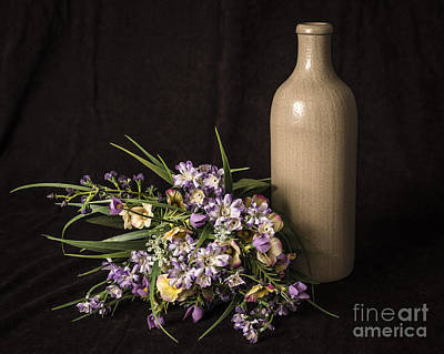 Photograph - Vase And Flowers by Joann Long