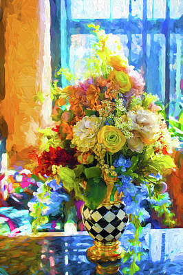 Photograph - Vase And Flowers Series 03 by Carlos Diaz