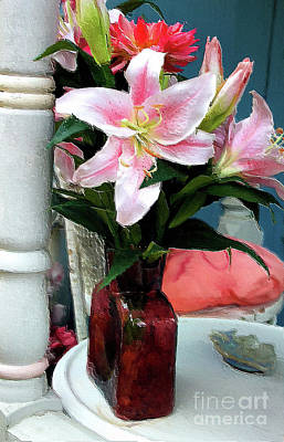 Photograph - Vase And Flowers Series 50 by Carlos Diaz