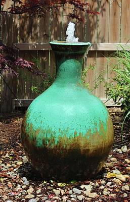 Photograph - Vase Fountain by Cynthia Guinn