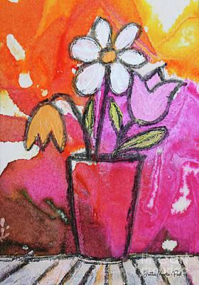 Painting - Vase by Jutta Maria Pusl