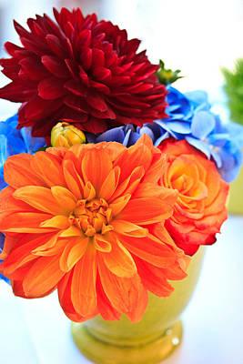 Photograph - Vase Of Colorful Flowers by Joni Eskridge