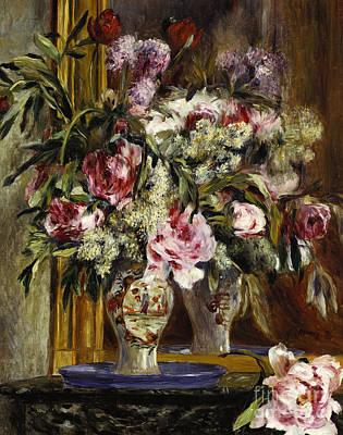 Painting - Vase Of Flowers, 1871  by Pierre Auguste Renoir