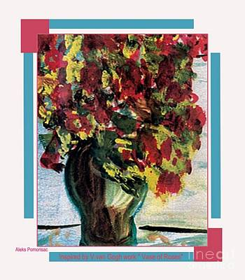 Vase Of Flowers Art Print by Aleksandra Pomorisac