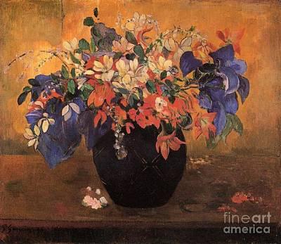 Gauguin Mixed Media - Vase Of Flowers by Gauguin