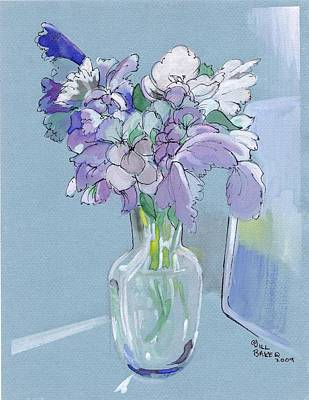 Vase Of Flowers In The Sun Art Print by Jill Baker