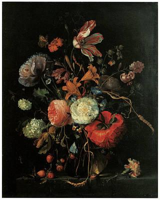 Vase Of Flowers Art Print by Jacob Van Walscapelle