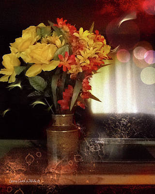Photograph - Vase Of Flowers by Lena Wilhite