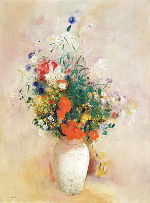 Photograph - Vase Of Flowers Redon by Rospotte Photography