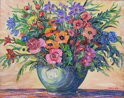 Vase Of Flowers Art Print by Richard Nowak