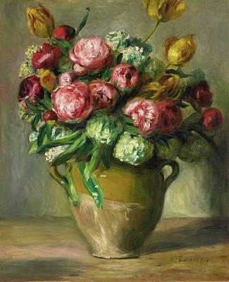 Painting - Vase Of Peonies by Pierre-Auguste Renoir