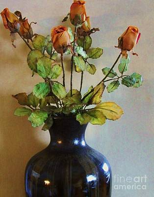 Vase Of Rosebuds Original