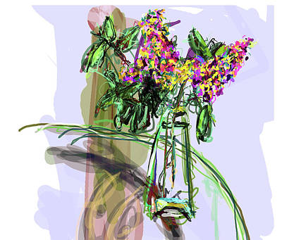 Yorkie Digital Art - Vase Placed Well By Beth by James Thomas