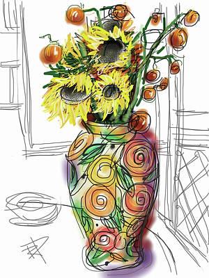 Screen Doors Digital Art - Vase by Russell Pierce