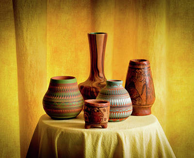 Wall Art - Photograph - Vases Light And Shadow by Wendy Blomseth