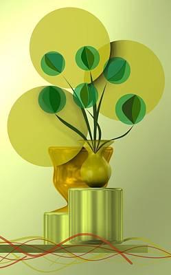 Vases Digital Art - Vase With Bouquet by Alberto RuiZ