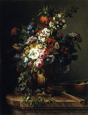 Painting - Vase With Flowers by Francisco Lacoma y Fontanet