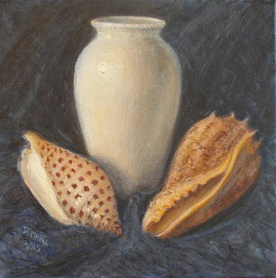 Painting - Vase With Imperial Volute And Junonia by Donelli  DiMaria