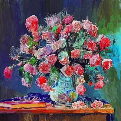 Digital Art - Vase With Nice Flowers by Yury Malkov