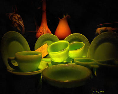 Photograph - Vases And Jadeite Dishes  by Thom Zehrfeld