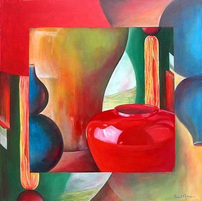 Vases Art Print by Muriel Dolemieux