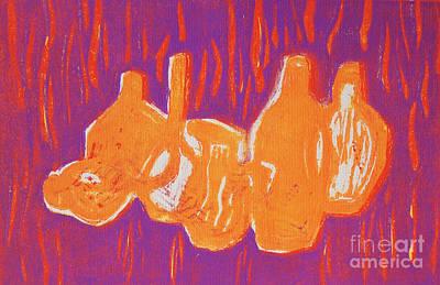 Linocut Relief - Vases Viii by Tenka Lau