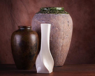 Contemporary Home Photograph - Vases With A Twist by Tom Mc Nemar