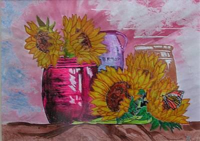 Vases With Flowers Art Print by John Vandebrooke