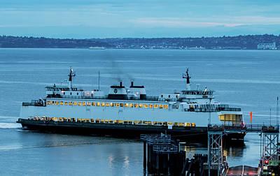 Photograph - Vashon Island Ferry by E Faithe Lester