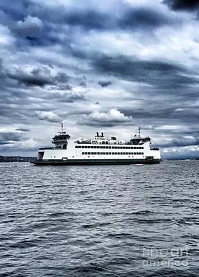 Photograph - Vashon Island Ferry by Vennie Kocsis