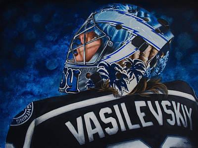 Hockey Painting - Vasilevskiy by Marlon Huynh