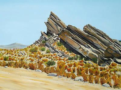 Vasquez Rocks Looking South Art Print by Stephen Ponting
