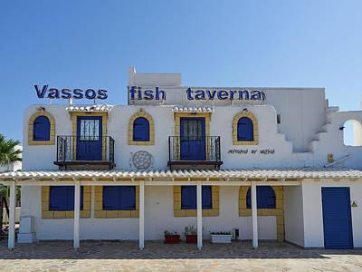 Photograph - Vassos Fish Taverna by Jouko Lehto