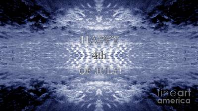 Vast Cosmos Fourth Of July Greeting  Original by Kimberlee Baxter