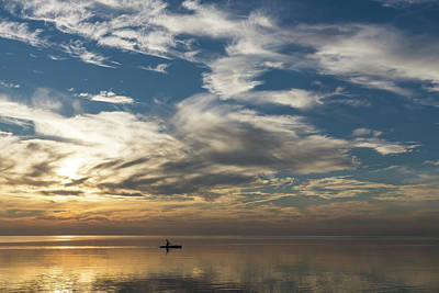 Photograph - Vast Serenity - A Solo Paddle Through A Morning Smooth As Silk by Georgia Mizuleva