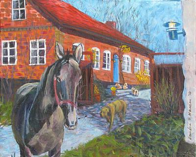 Painting - Vastergard Stables by Art Nomad Sandra  Hansen