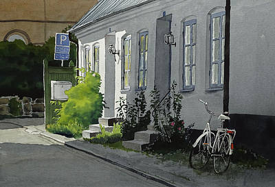 Painting - Vastergatan by Erik Lundgren