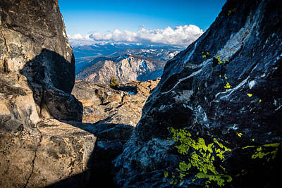 Lychens Photograph - Vastly Majestic High Sierras by Mike  Herron