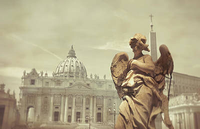 Vatican Angel Art Print by JAMART Photography