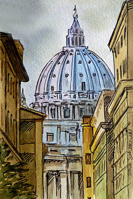 St Peters Basilica Painting - Vatican City by Irina Sztukowski