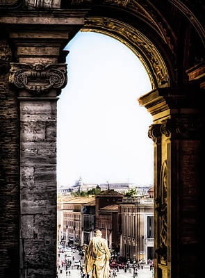 Photograph - Vatican City - The Arch View by Russell Mancuso