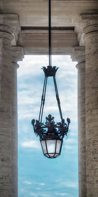 Photograph - Vatican Lamp In Portico by Gary Slawsky
