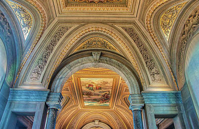 Photograph - Vatican Museum Ceiling by Gary Slawsky