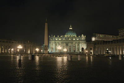 Photograph - Vatican Panorama By Night by Vlad Baciu