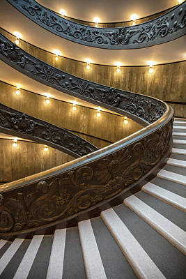 Photograph - Vatican Staircase Heading Up  by John McGraw